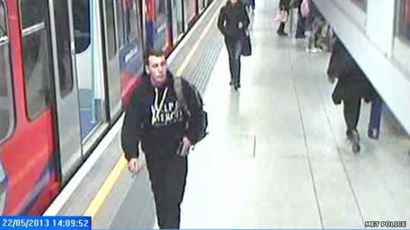 Lee Rigby at station