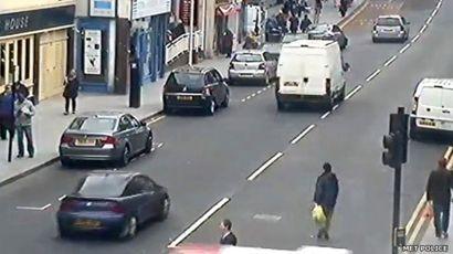 Vauxhall car in Wellington Street