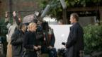 Naomi Watts and Viggo Mortensen on the set of Eastern Promises