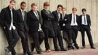 Cast shot on the set of The History Boys