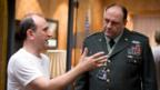 Armando Iannucci on the set of In The Loop