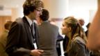 Chris Addison and Anna Chulmsky in In The Loop