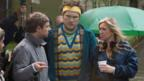 Martin Freeman, Marc Wootton and director Debbie Isitt on the set of Nativity!