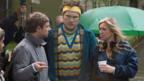 Martin Freeman, Marc Wootton and director Debbie Isitt on the set of Nativity!