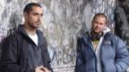 Actor Riz Ahmed with director Eran Creevy on set