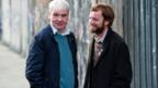Terri Hooley on set with Richard Dormer who plays Terri in Good Vibrations