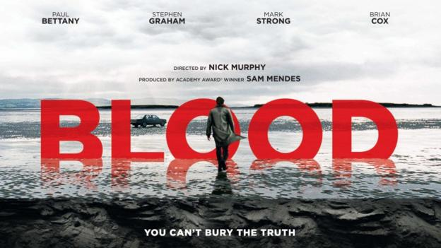 Blood starring Paul Bettany and Mark Strong UK poster
