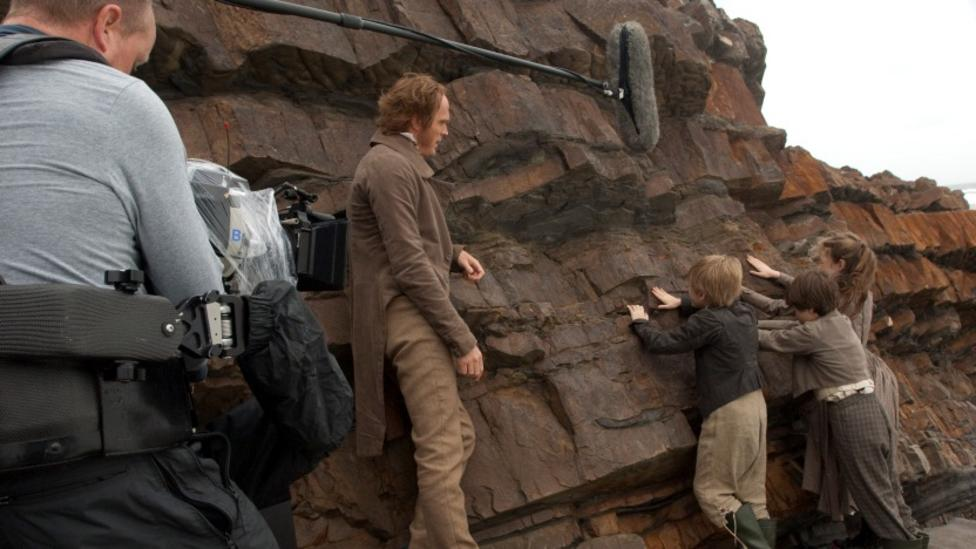 Paul Bettany on the set of Creation
