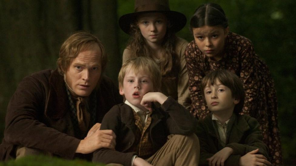 Paul Bettany, Gene Goodman and Freya Parks in Creation