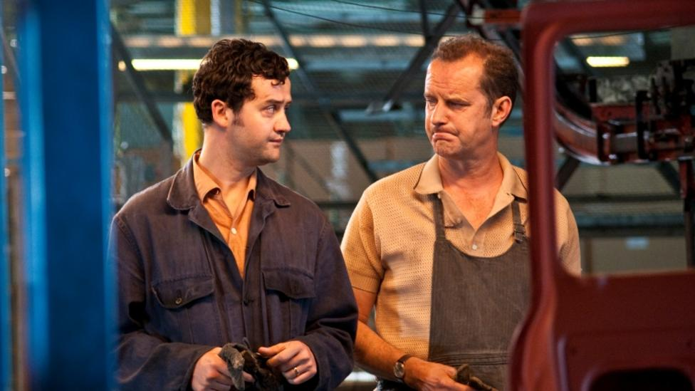 Daniel Mays and Phil Cornwell in Made In Dagenham