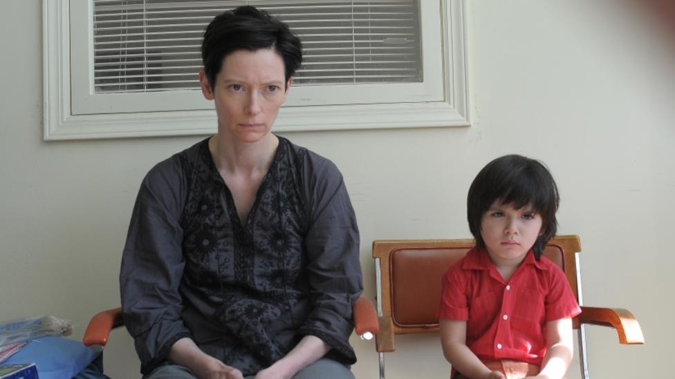 Rock Duer and Tilda Swinton in We Need To Talk About Kevin