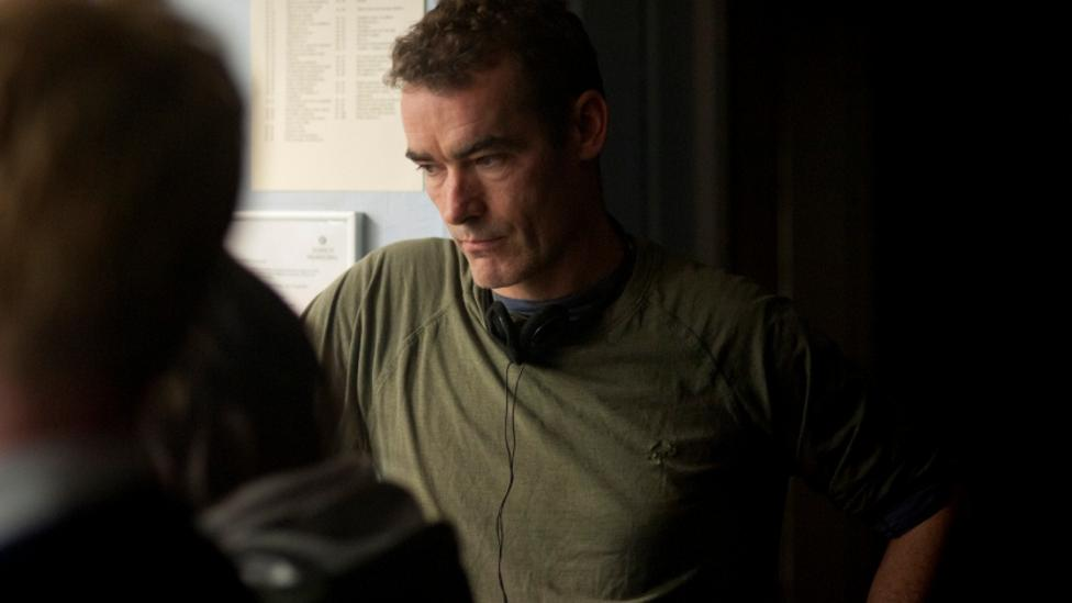 Rufus Norris director on the set of Broken