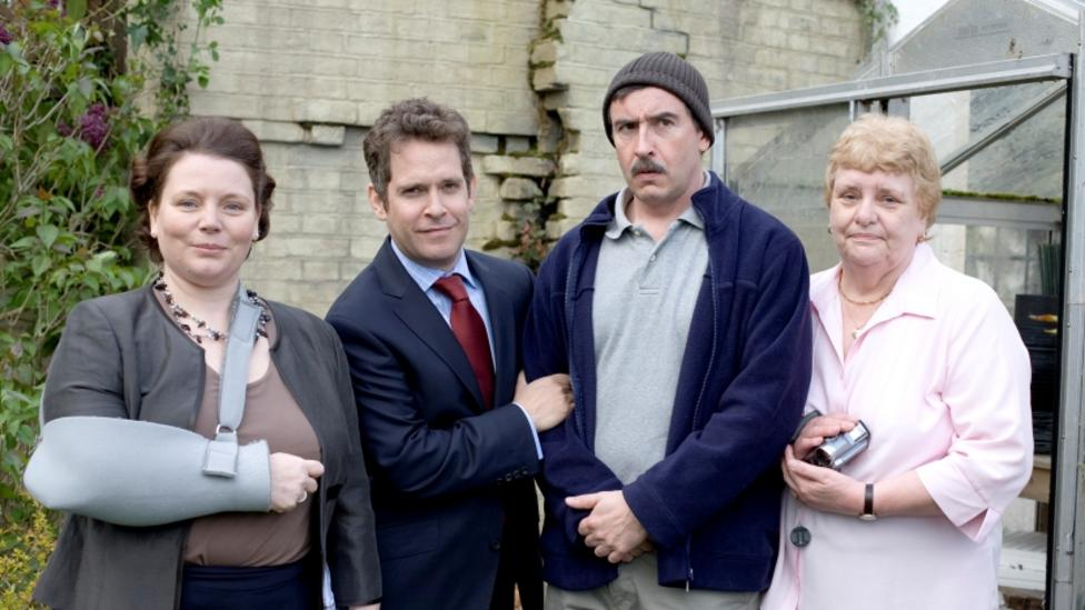 Tom Hollander, Steve Coogan, Joanna Scanlan and Rita May in In The Loop