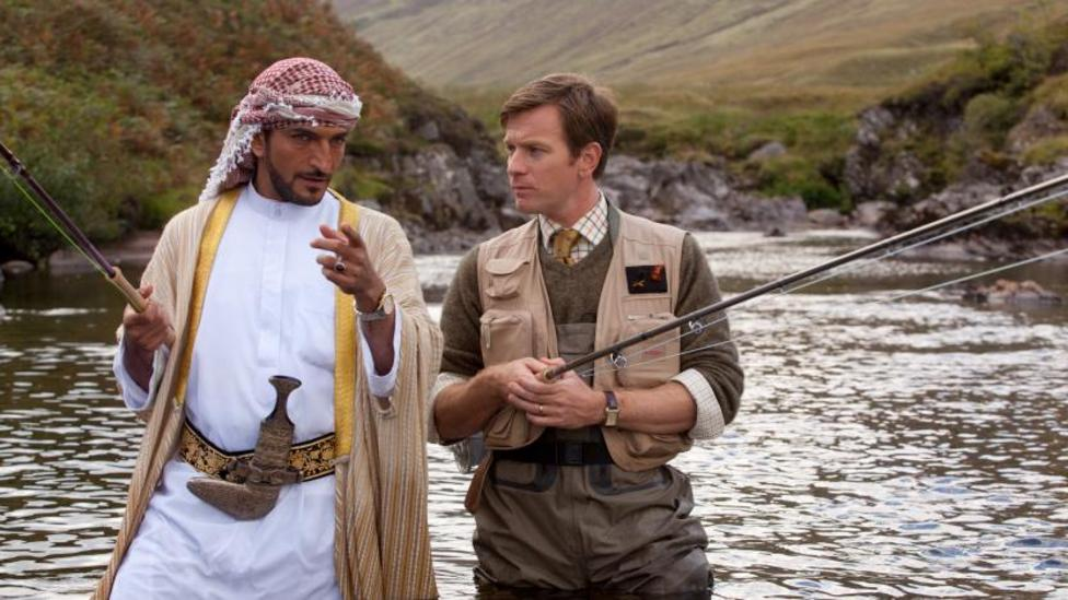 Amr Waked and Ewan McGregor in Salmon Fishing in the Yemen