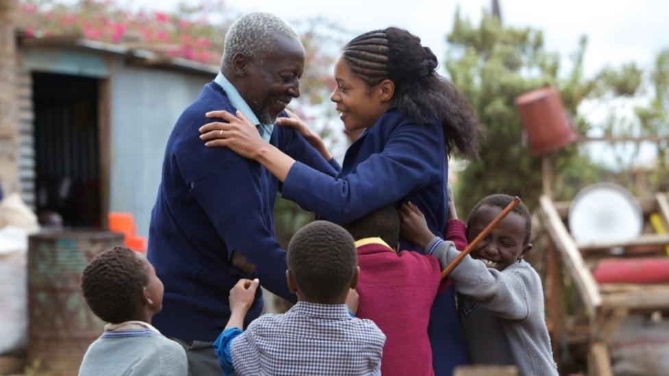 Oliver Litondo and Naomie Harris in The First Grader