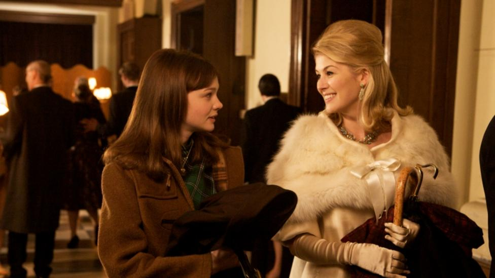 Carey Mulligan and Rosamund Pike in An Education