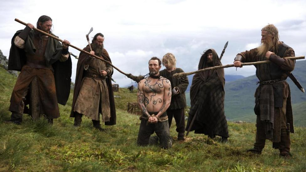 Mads Mikkelson and supporting cast in Valhalla Rising