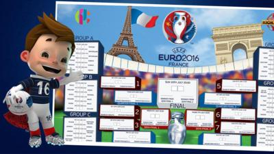 MOTD Kickabout - CBBC's Euro 2016 Wall Chart