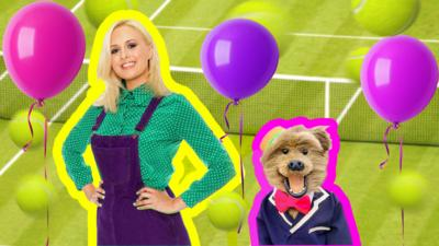 CBBC HQ - Watch Katie and Hacker have some Wimble-Fun