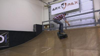 Absolute Genius with Dick & Dom - Dick and Dom try out a hoverboard