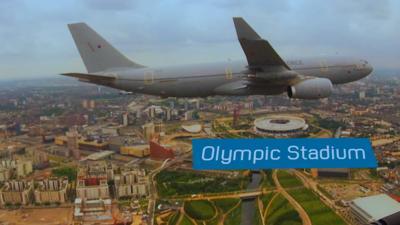 Blue Peter - Amazing footage of flight across London