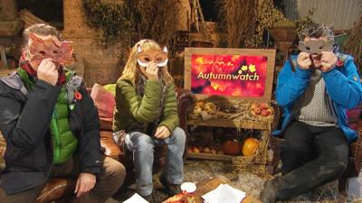 Blue Peter - Hero masks on Autumnwatch