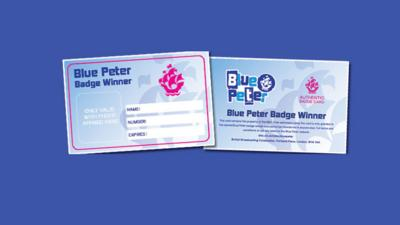 Blue Peter - Blue Peter Badge Card