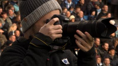 Blue Peter - Barney becomes a football photographer