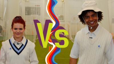 Blue Peter - Lindsey and Radzi's cricket challenge