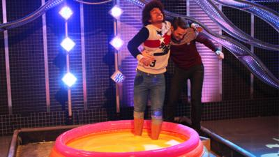 Blue Peter - Watch Radzi walk on custard