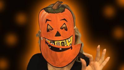Blue Peter - Make the perfect pumpkin mask