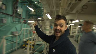 Blue Peter - Inside the engine room of a massive ship