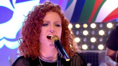 Blue Peter - Jess Glynne performs 'Don't Be So Hard On Yourself'