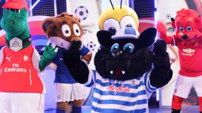 Blue Peter - Radzi Vs The Mascots: Penalty shoot out!