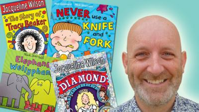 Blue Peter - Nick Sharratt illustrates a book title