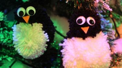 Blue Peter - Penguin Pom Pom Decoration
