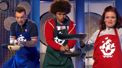 Blue Peter - Who Wins The Pancake Flipping Contest?