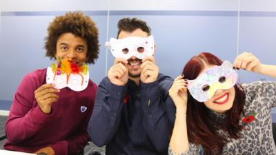 Blue Peter - The presenters make their own hero masks