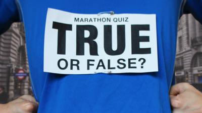Blue Peter - Quiz: Marathons – True or False?