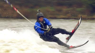 Blue Peter - Radzi's epic waterski fails