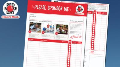 Blue Peter - Red Nose Day Sponsorship Form