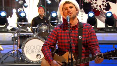 Blue Peter - Scouting for Girls perform Christmas in the Air (Tonight)