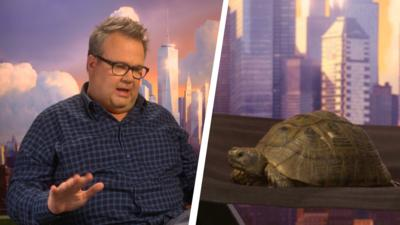 Blue Peter - Shelley the Tortoise interviews a film star