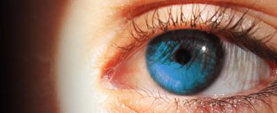 A big blue eye