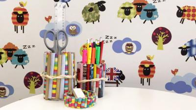 Blue Peter - How to make a paper pencil pot