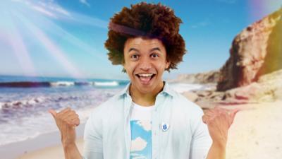 Blue Peter - Radzi cleans up a beach