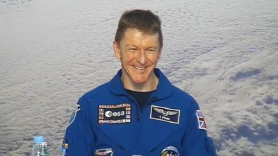 Blue Peter - Tim Peake's shout-out for Blue Peter