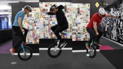 Blue Peter - Awesome unicycle tricks