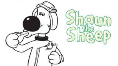 Shaun the Sheep - Bitzer the Dog Colour In