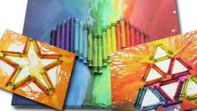 Blue Peter - Join in and Create Melted Crayon Art
